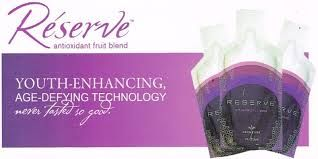 RESERVE™ RESERVE™ makes the feeling of youthful living last. This tasty gel contains powerful antioxidants including Resveratrol that repair free radical damage and protect cells against future harm. Your cells stay healthier, live longer, and leave you with the enduring effects of youth. *30 Packets per box.
