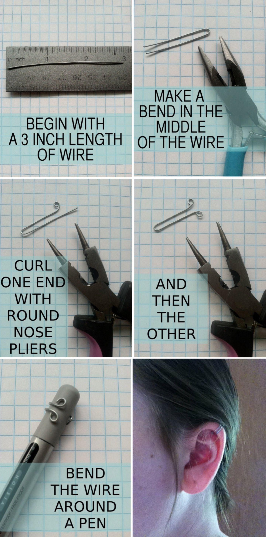 A Little Ear Cuff Tutorial...!\' (via Zounds Designs)   DIY ...