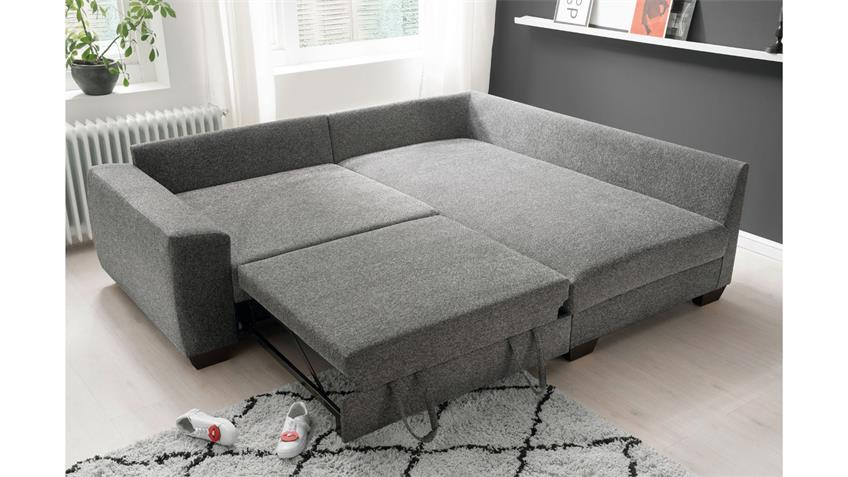 Ecksofa Fortuna Federkern Stoff Charcoal Bettfunktion In 2020 Ecksofa Sofa Bett