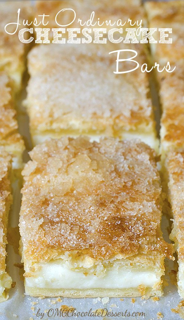Just Ordinary Cheesecake Bars #creamcheeserecipes