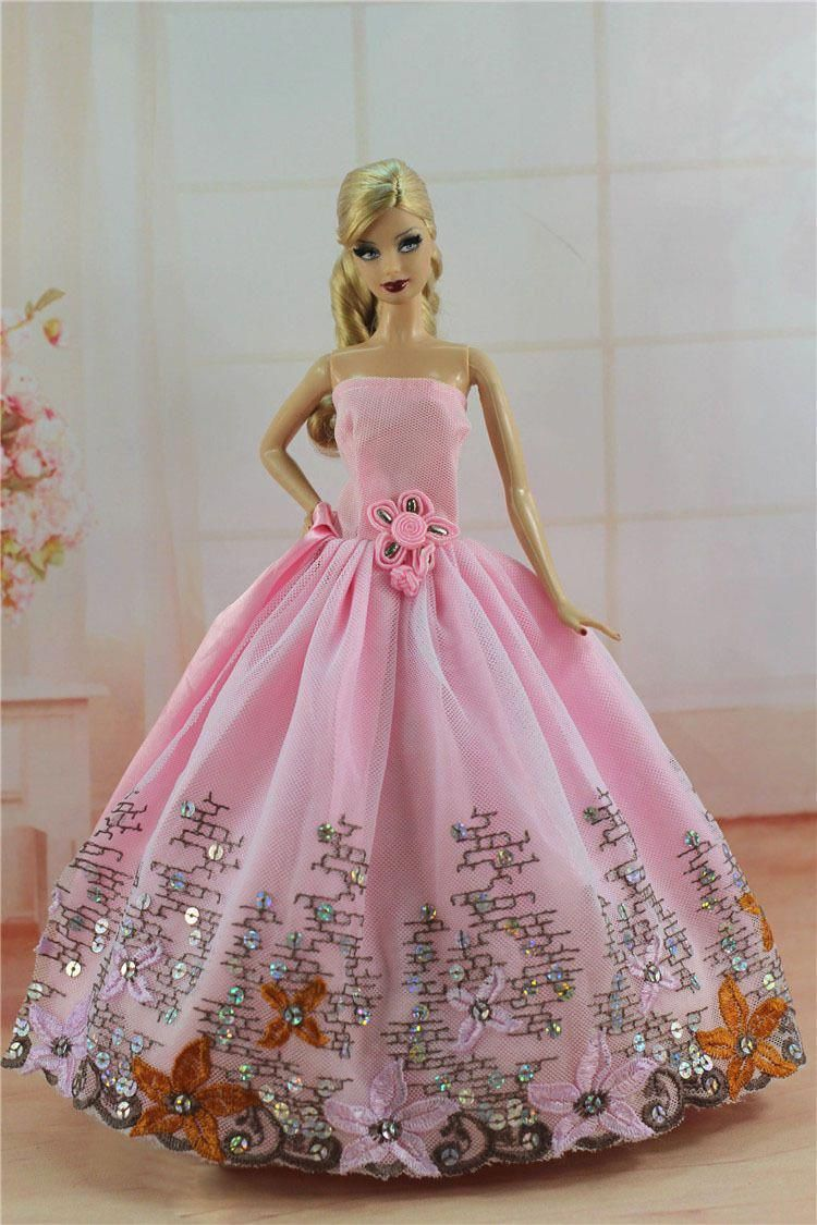 Lot 15 items= 5 Princes Dress//Wedding Clothes//Gown+10 shoes For 11.5in.Doll S03F