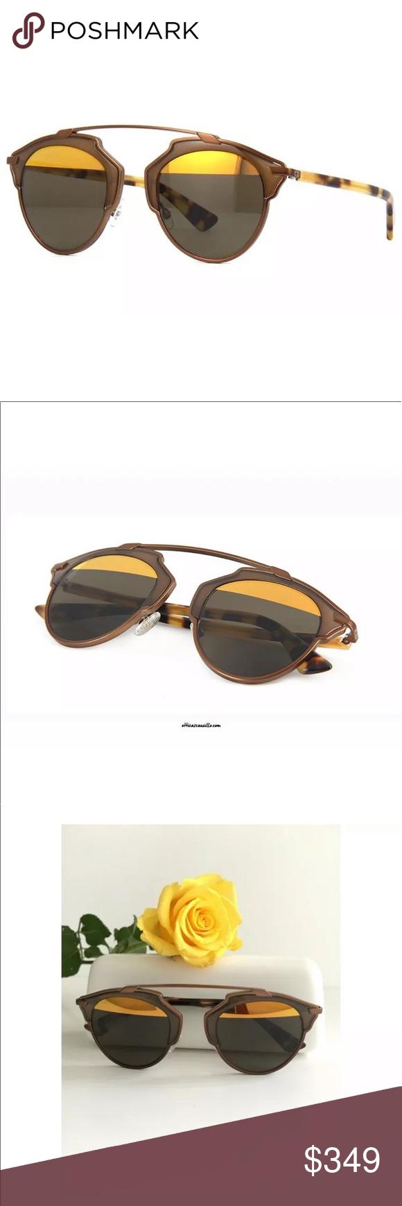 018cb70681 Christian Dior SoReal RJKEB Gold Brown Havana Dior So Real Sunglasses Dior  So Real RJKEB brown