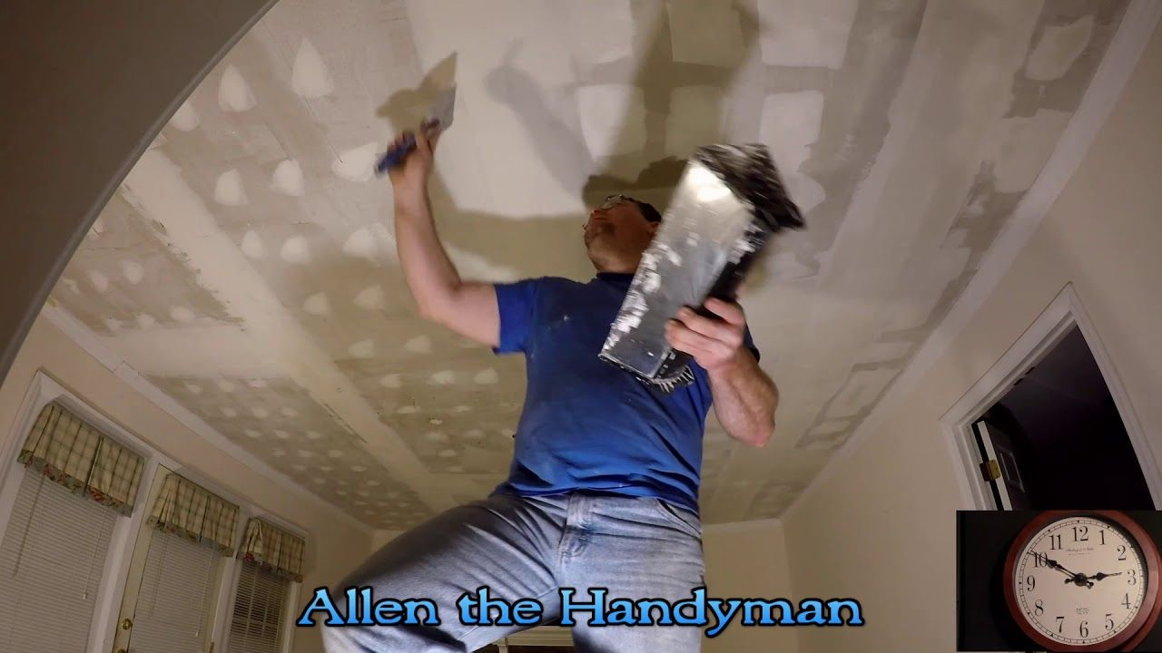Popcorn Ceiling Texture Removal and Painting Ceiling