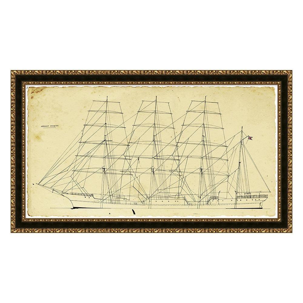 Ship Blueprint Framed Print #2   Arhaus Furniture   Arhaus ...