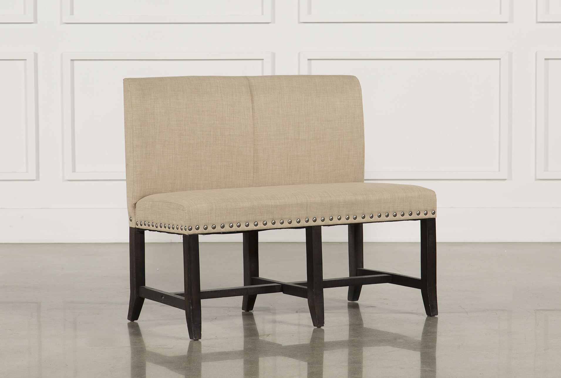 Jaxon Upholstered High-Back Bench | Bench, Living spaces and Spaces
