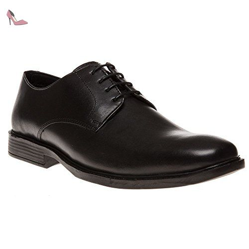 Red Tape Potton hommes en cuir Loafers - Chaussures Black 9 a2VYUE4
