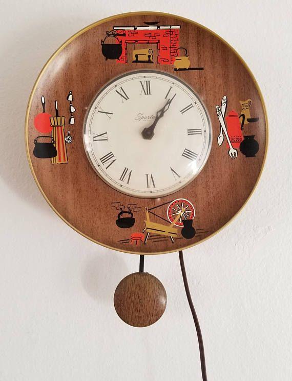 Spartus Kitchen Wall Clock Clocks Mid
