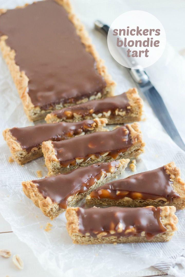 Snickers Blondie Tart | Rezept | Pinterest | Süße rezepte, Kuchen ...