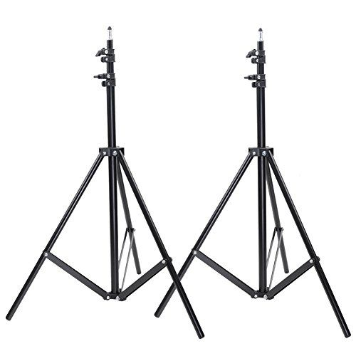 Neewer Two Aluminum Photo/Video Tripod Light Stands For S