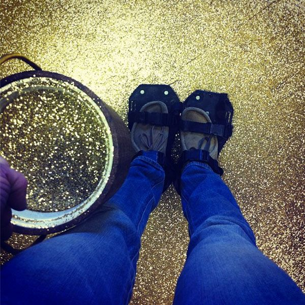 Two Shop Owners #DIY A #glitter Floor!