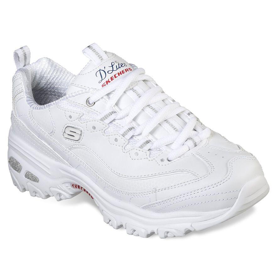01dc04b48ebedb Skechers D'Lites Fresh Start Women's Sneakers, Size: 7.5 Wide, Orange