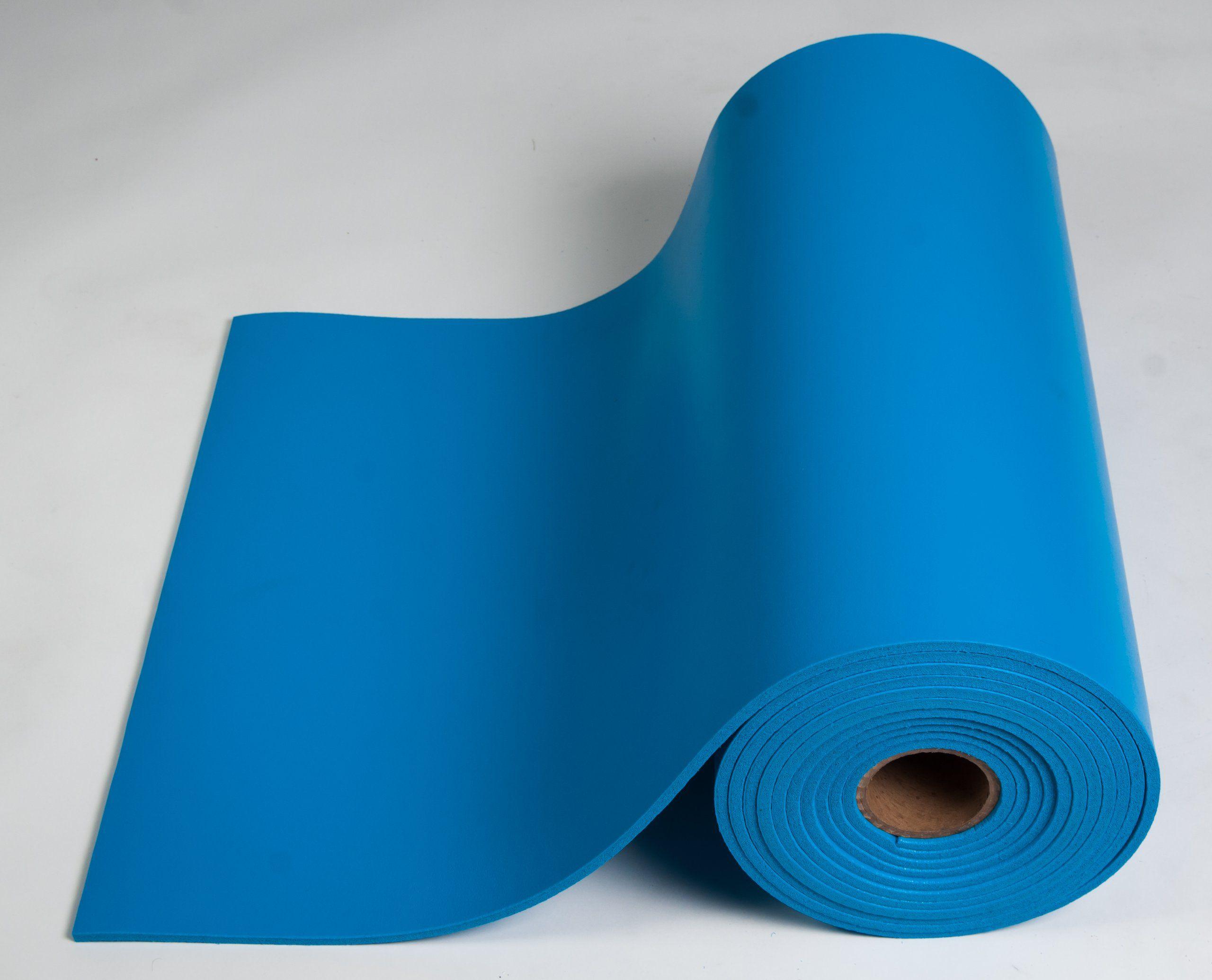 Esdproduct Pvc Foam Mat Roll 3 8 Thick 30 Length 2 1 Width Blue