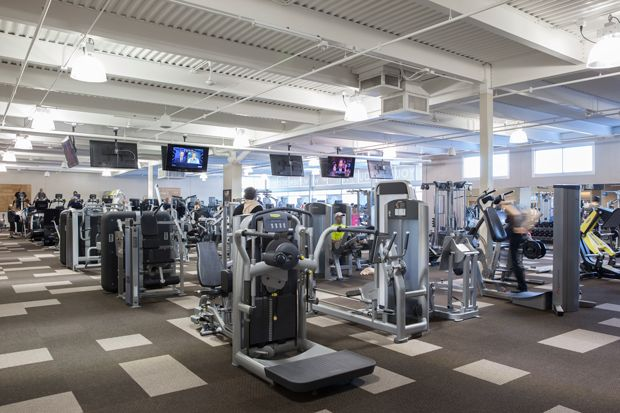 A View Of Inside The Wisconsin Athletic Club In Menomonee Falls Wisconsin Personal Training Studio Fitness Studio Athletic Clubs
