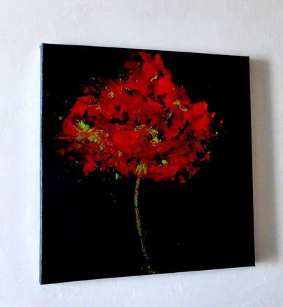 tableau peinture contemporaine en rouge et noir eclosion arbres pinterest acrylic. Black Bedroom Furniture Sets. Home Design Ideas