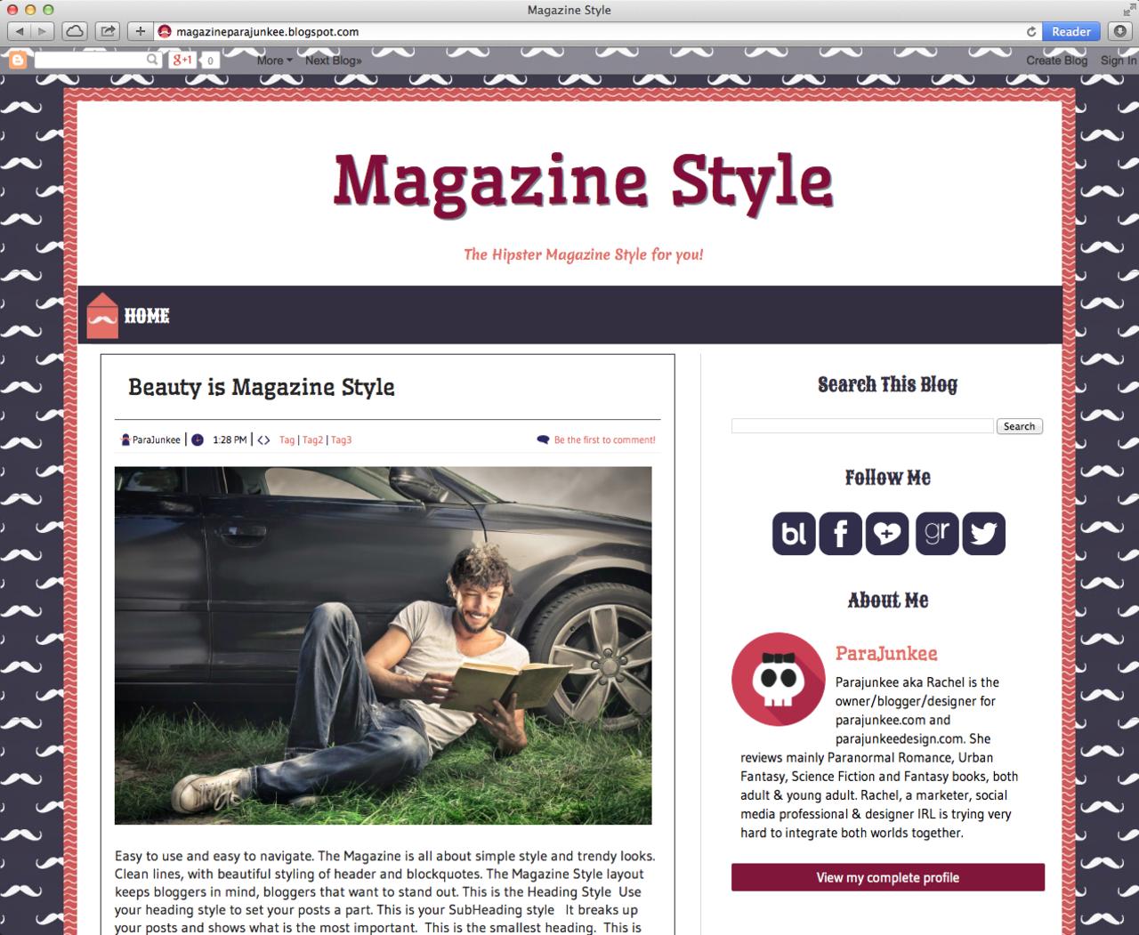 New Blogger Premade Template http://www.parajunkee.com/2014/06/30 ...