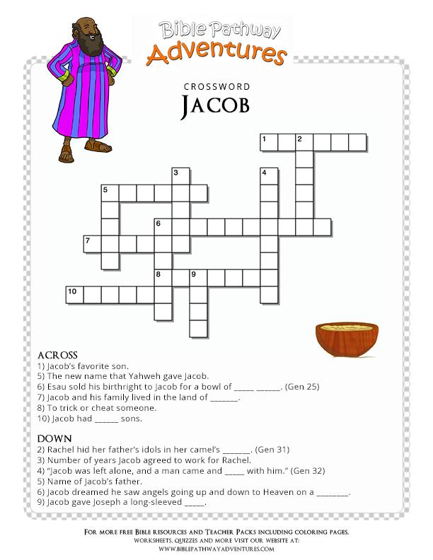 Bible Crossword Puzzle Jacob