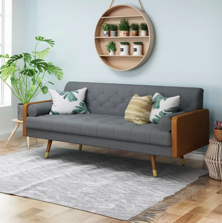 16 Couches Under 500 That Don T Skimp On Style Or Comfort Mid Century Modern Sofa Living Room Furniture Furniture For Small Spaces
