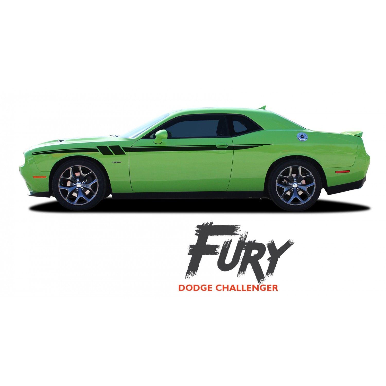 Dodge Challenger Side Stripes Fury Decals Upper Door Accent Vinyl