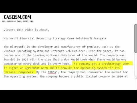 microsoft case study analysis