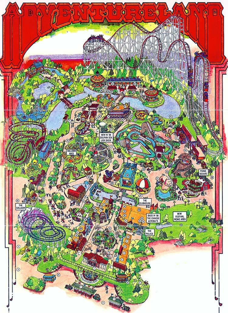 Adventureland In Des MoinesIa I Have Ridden Every Single Ride - Des Moines Iowa On Us Map