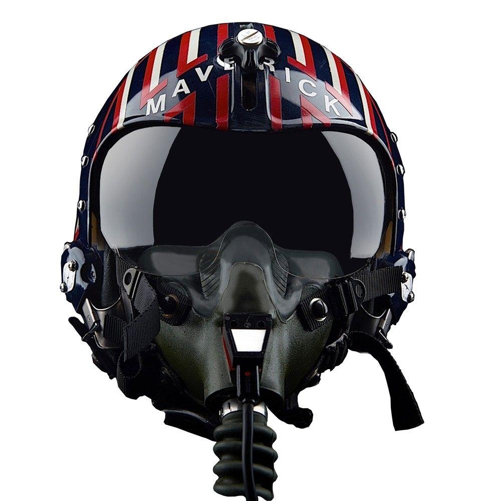 Maverick Top Gun Camiseta Maverick Helmet Top Gun Cinza Clara Gola