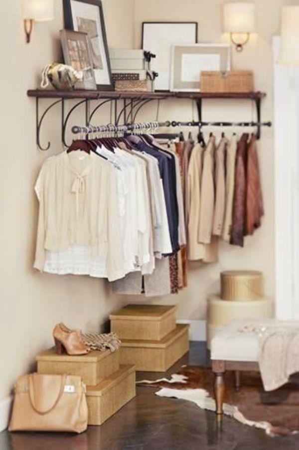 21 Really Inspiring Makeshift Closet Designs For Small Es