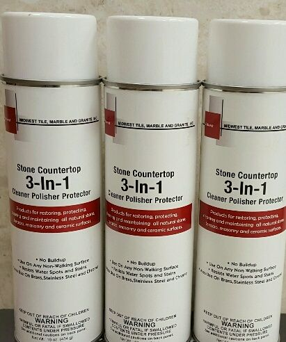 Midwest Tile 3n1 Stone Counter Top Cleaner Polisher Protector