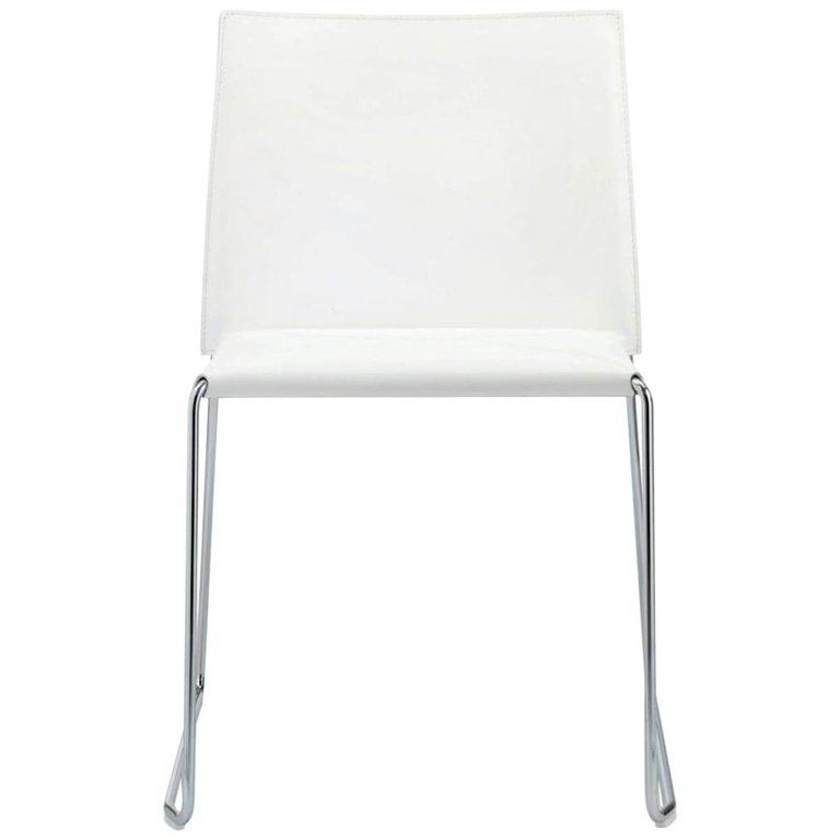In Stock Italian Modern Leather Dining Chair