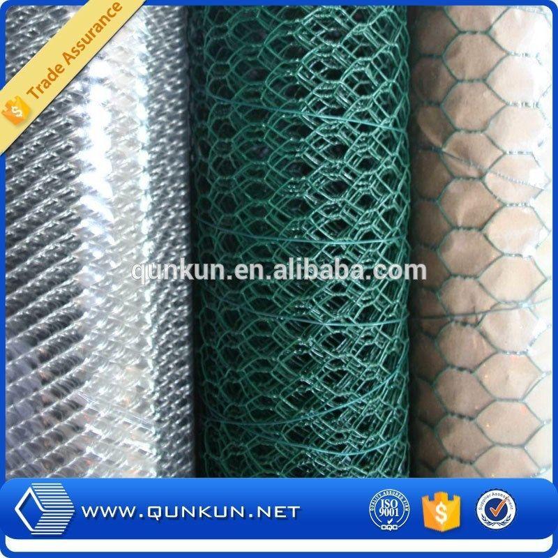 Anping galvanized hexagonal wire mesh/ chicken wire / PVC coated ...