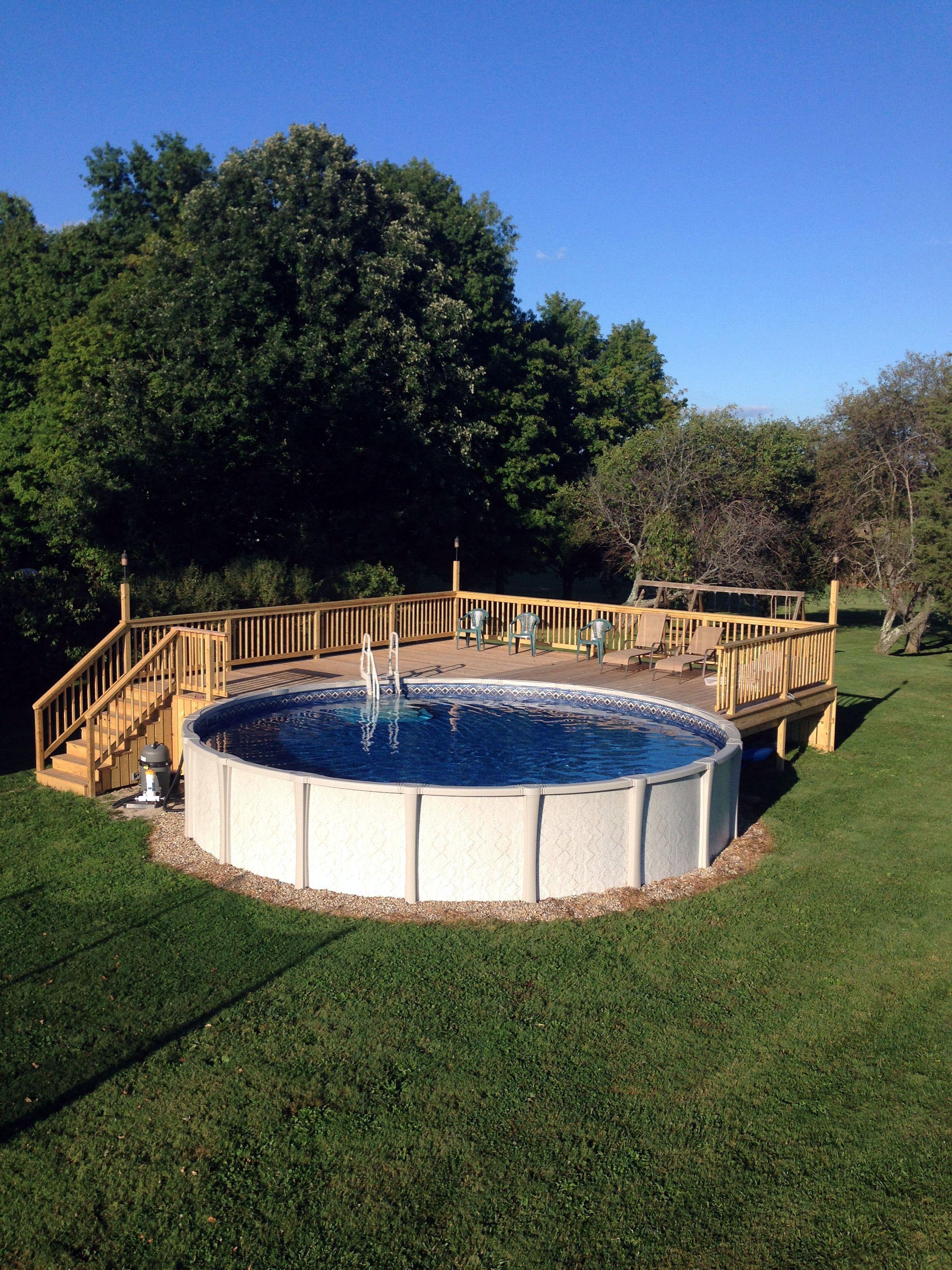 Pool Deck Ideas Best Above Ground Pool Pool Landscaping Pool Deck Plans