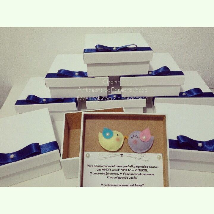 b6dd4b55fd Para convidar seus padrinhos de casamento com estilo e criatividade!  br  Convite box
