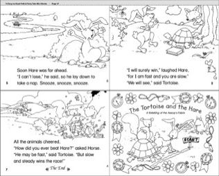 The Tortoise And The Hare With Images Mini Books Lion And The