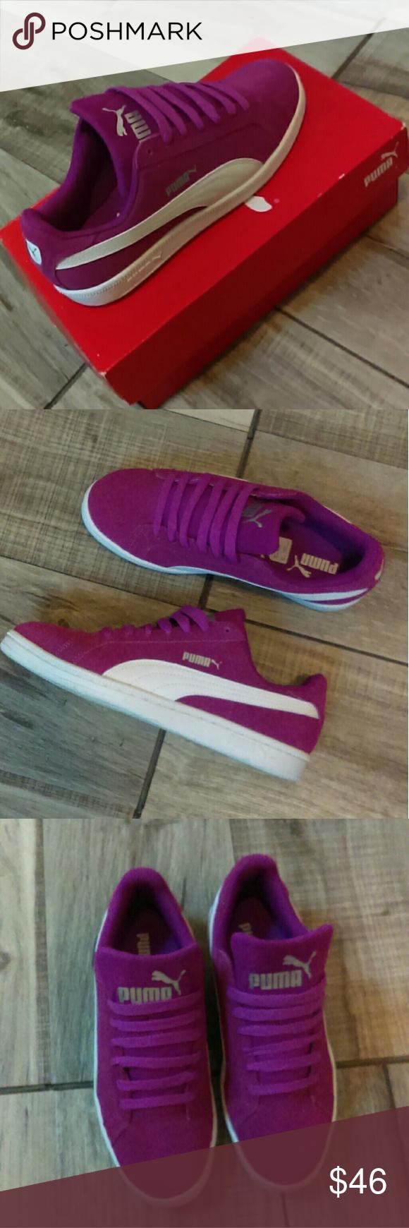 best sneakers a81a7 a9c79 Puma Big Kids Youth Shoes Size 6 Puma Hollyhock Juniors casual shoes. Puma  Smash Fun