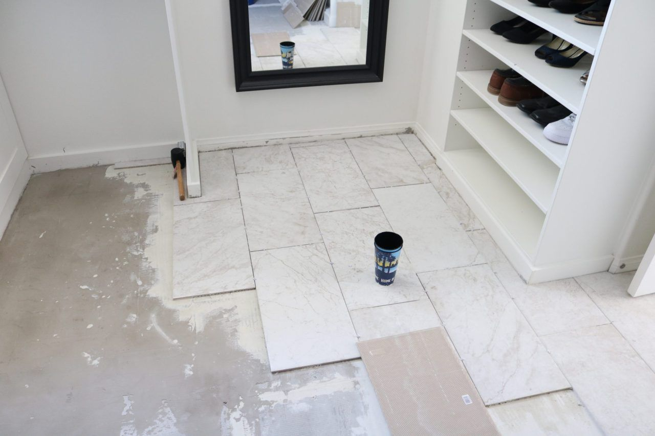 How to prep and tile your bathroom floors using either small scale ...