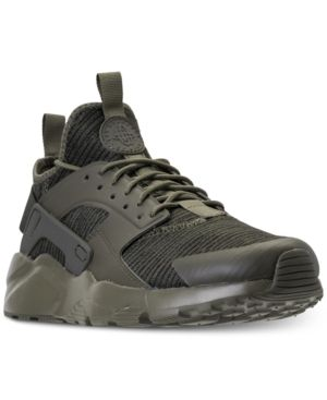 online store d3d63 cfc9d Nike Men s Air Huarache Run Ultra Se Casual Sneakers from Finish Line -  Green 10.5