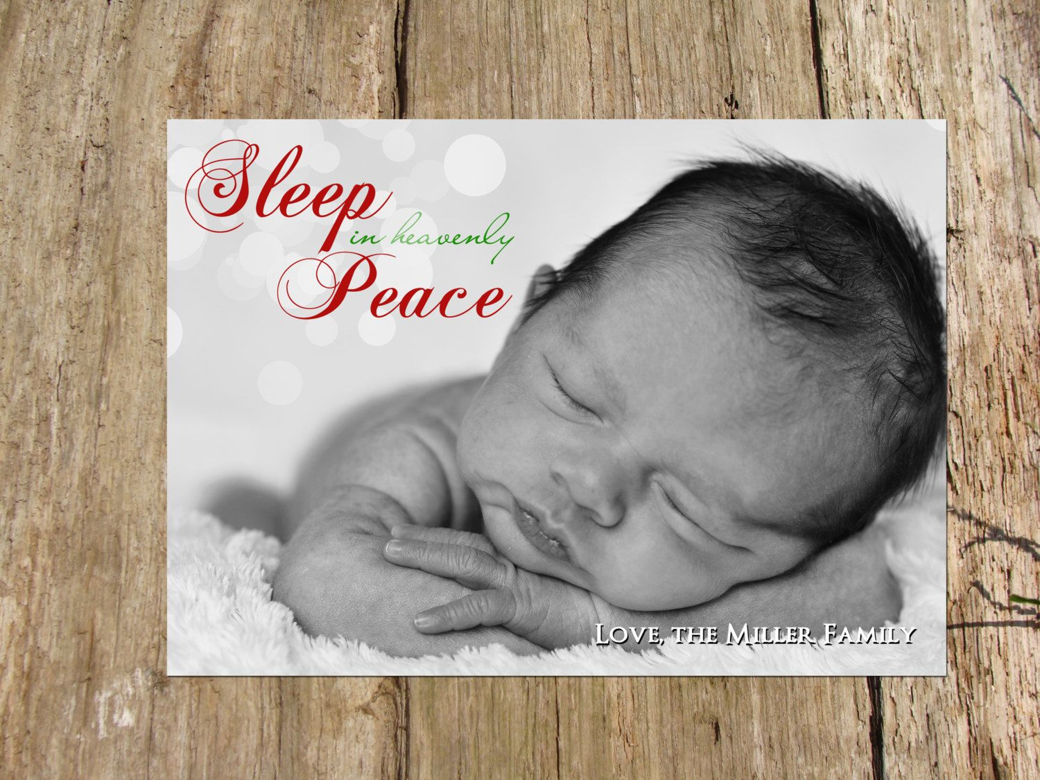 Christmas holiday photo greeting card sleep in heavenly peace by christmas holiday photo greeting card sleep in heavenly peace by rsvpinvitationsbyme on etsy kristyandbryce Image collections