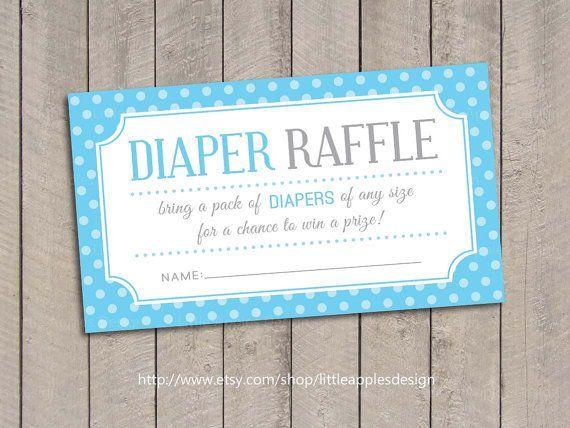 Baby Shower Diaper Raffle Tickets / Blue Baby Shower By DreamyDuck
