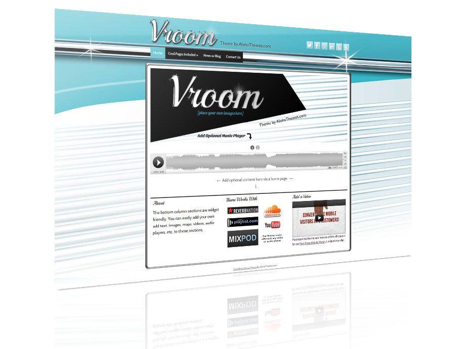 Vroom - 50s retro vintage wordpress theme | WordPress Themes | Pinterest