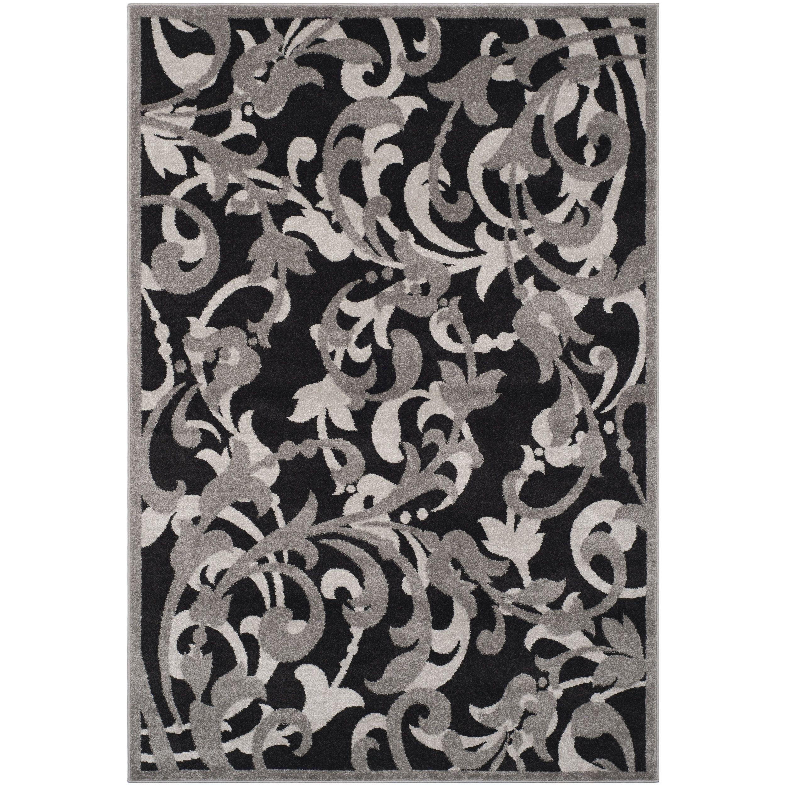 Safavieh amherst indoor outdoor anthracite light grey rug u x
