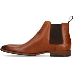 Photo of Cognac-colored leather Chelsea boots (40,41,42,43,44,45,46,47) Manfield