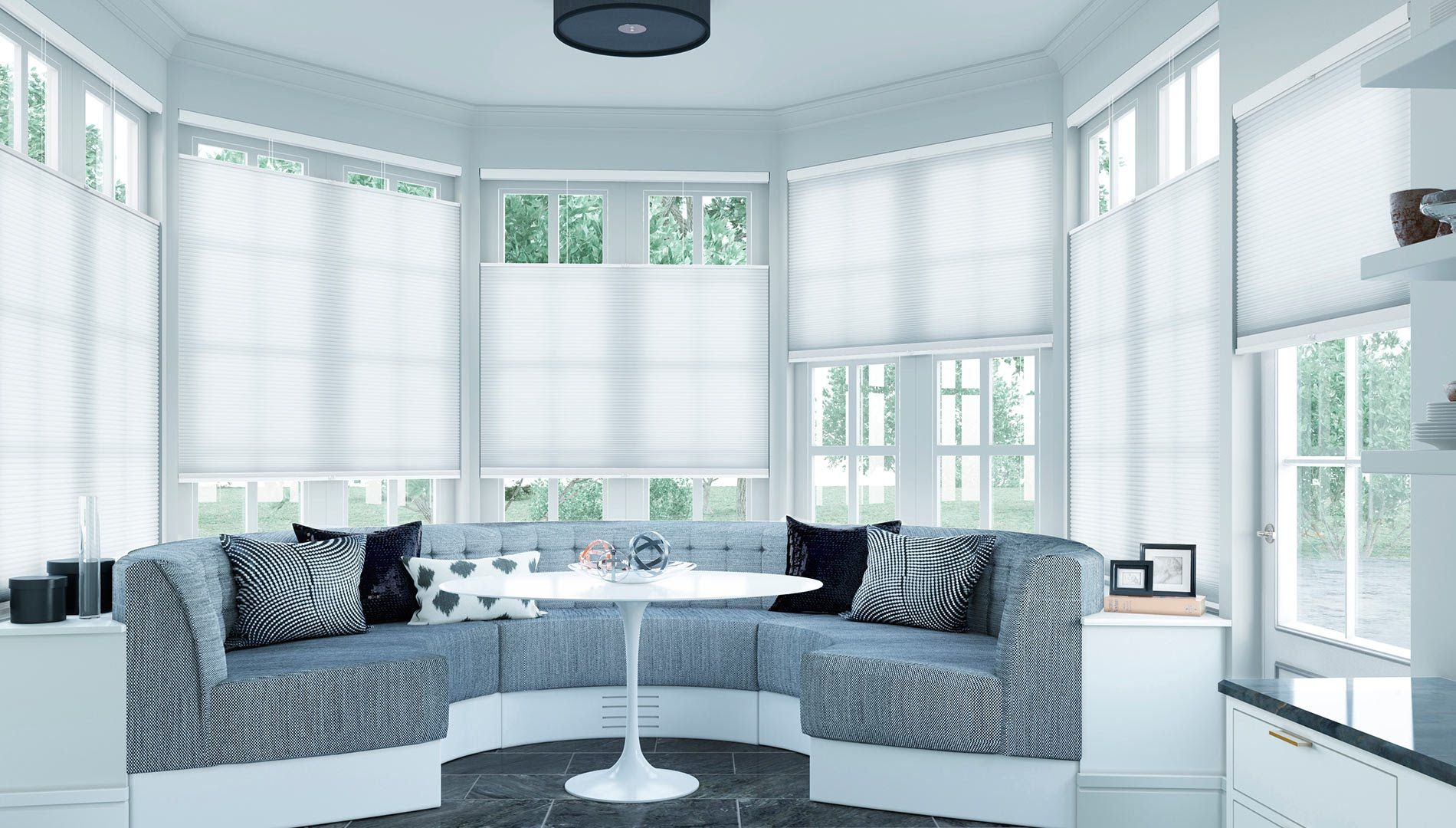 Cordless top down bottom up select blinds light