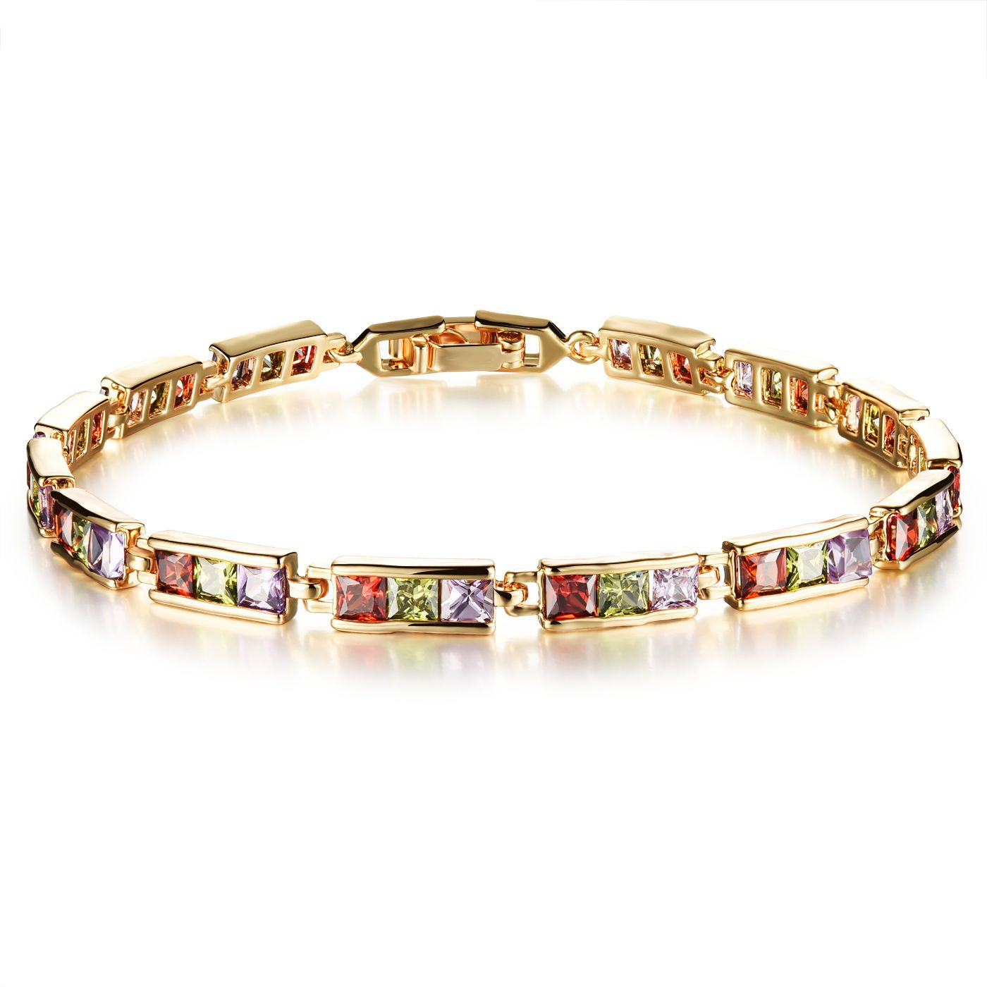 Ladies bracelets fashion k goldplated inlay shine zircon bracelet