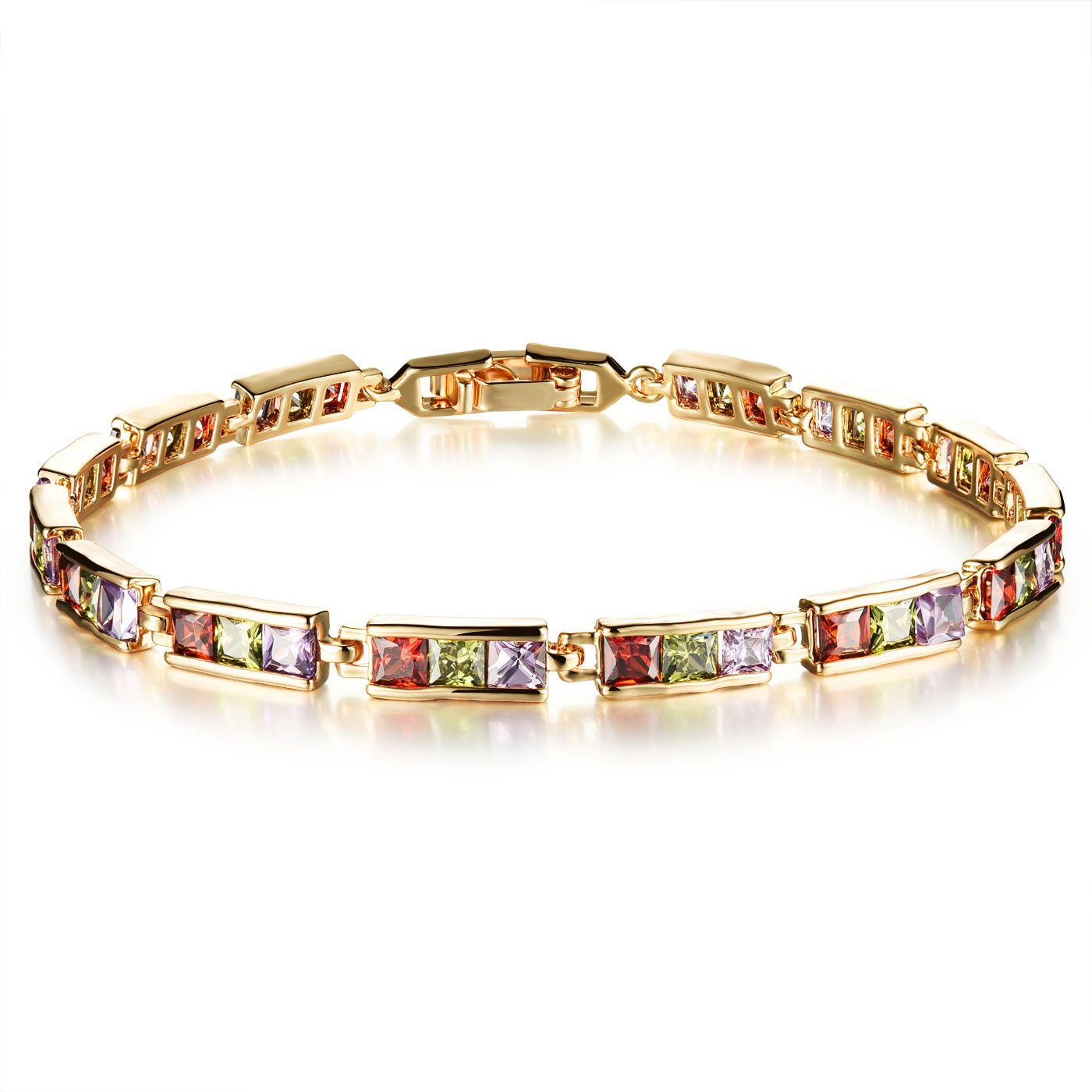 Ladies bracelets fashion k goldplated inlay shine zircon bracelet