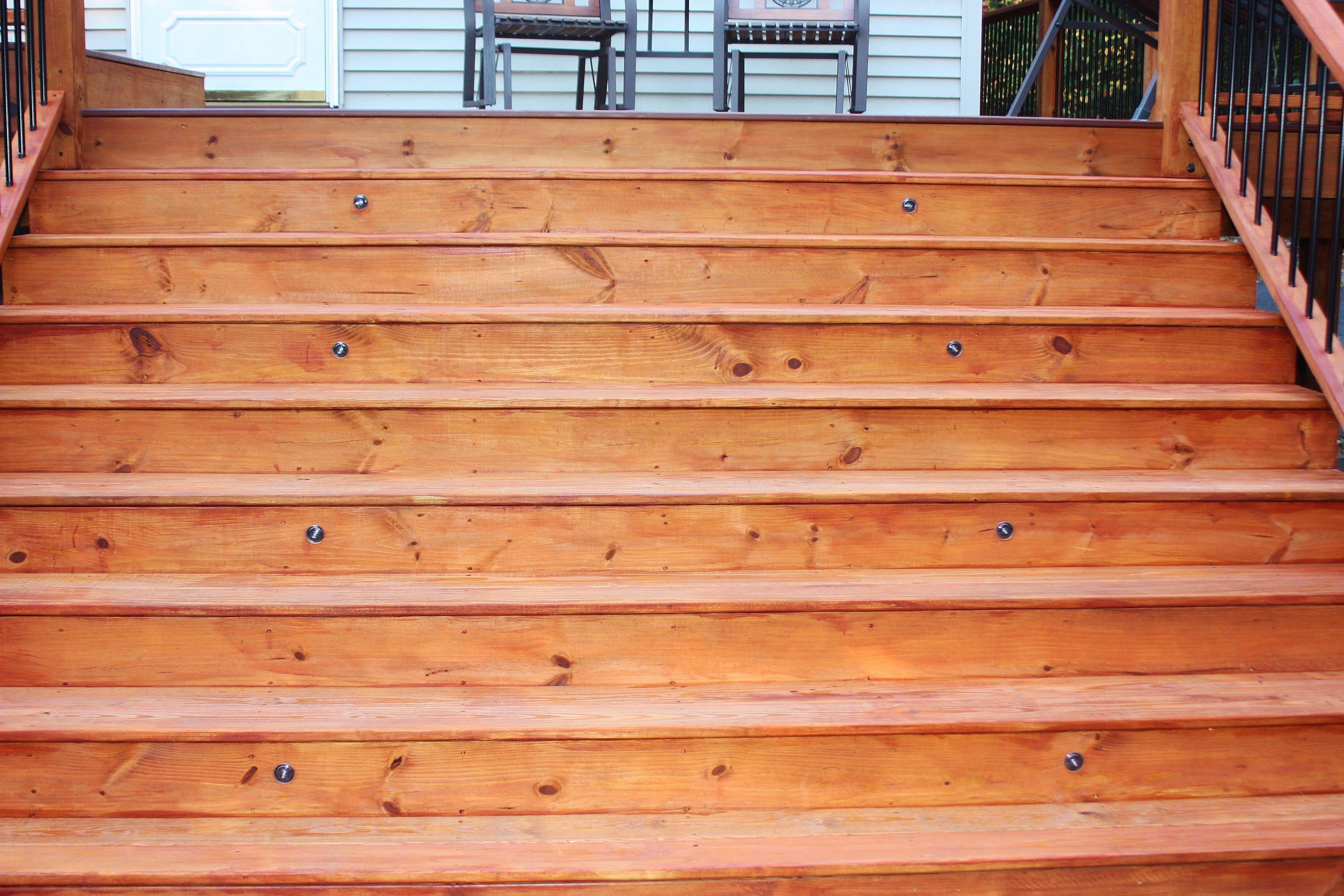 New deck with one coat of cabot 39 s australian timer oil for Australian hardwood decking