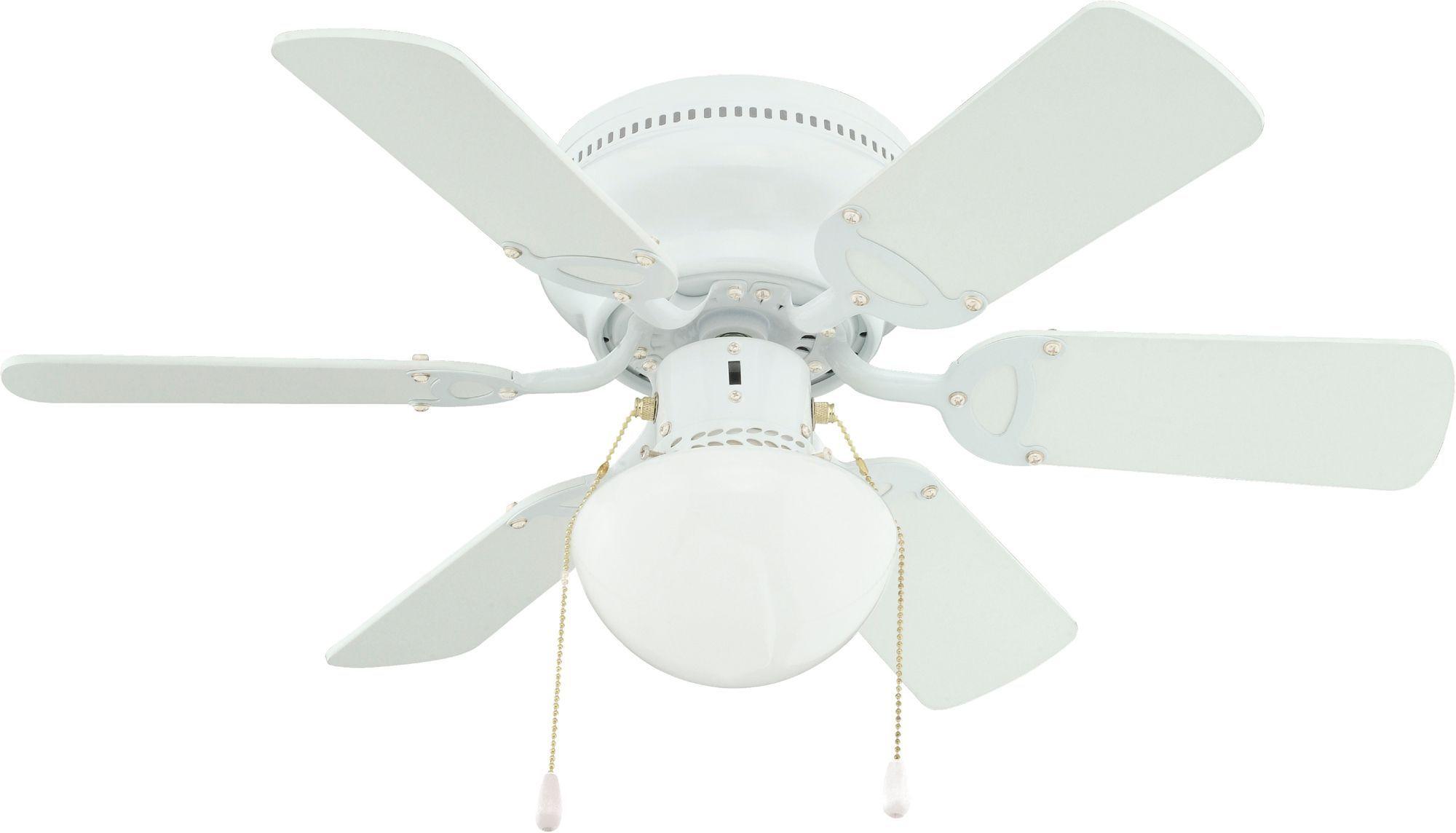 Twister White Ceiling Fan Light