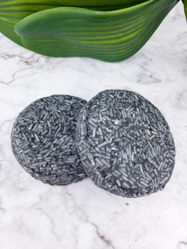 Solid Shampoo Bars, SLS Free Shampoo, All Hair Types, Purifying Solid Shampoo With Activated Charcoal, Jojoba oil shampoo, Plastic Free #jojobaoil