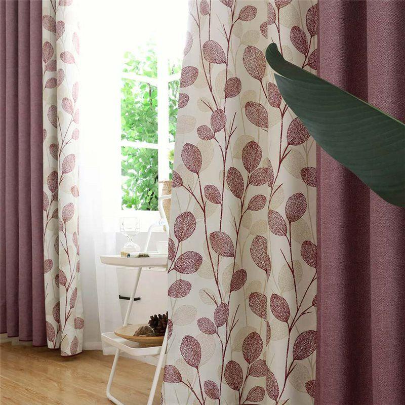 rideau occultant en polyester lin