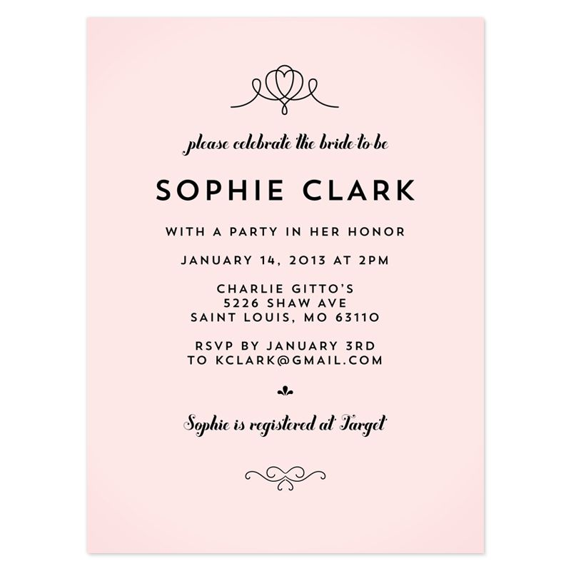 bridal shower invitation wording references - Wedding Shower Invites