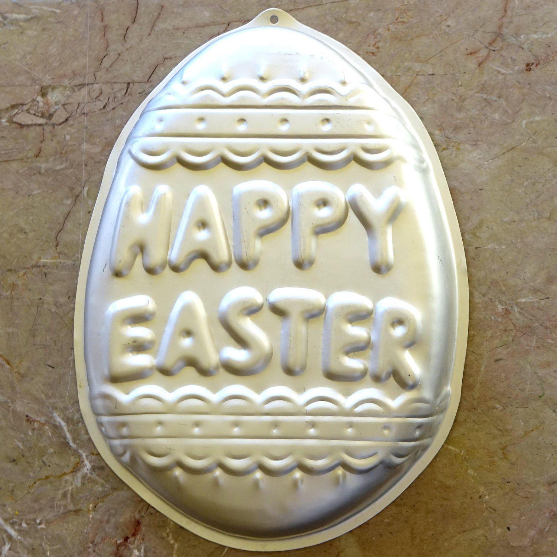 Happy easter wilton cake pan easter egg shape 5023495