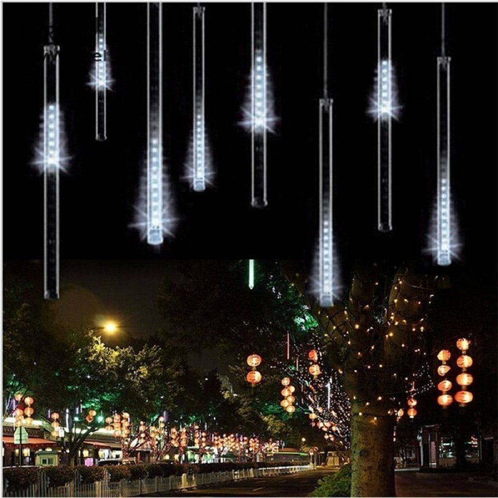 SUPli LED Meteor Shower LightsFalling Rain Drop Icicle